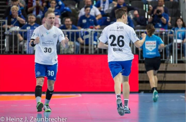Nick Braun vom TSV Bayer Dormagen Handball - Foto © Heinz J. Zaunbrecher