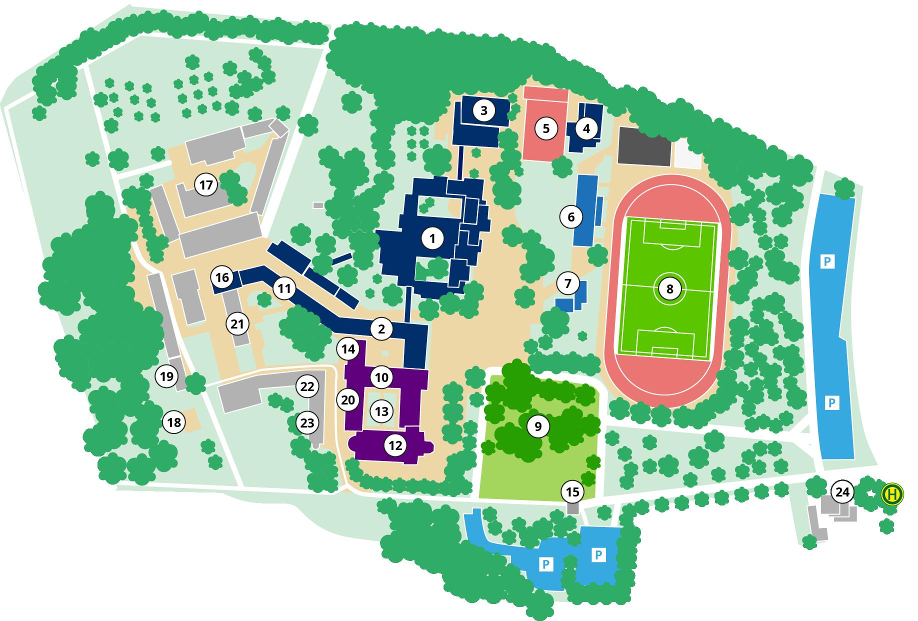 Lageplan - Sportinternat Knechtsteden