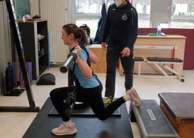 Greta trainiert im Sportinternat Knechtsteden mit Dipl. Spowiss. Stefan Früh